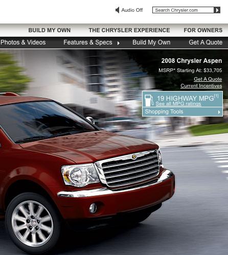 Chrysler aspen 19MPG