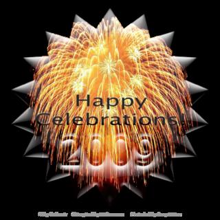 Star button fireworks happy celebrations