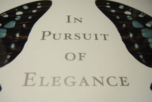 In Pursuit of Elegance - cover DSC03312