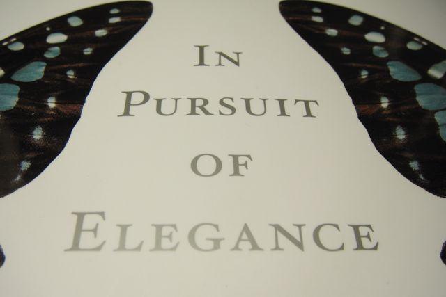 In Pursuit of Elegance - cover DSC03312