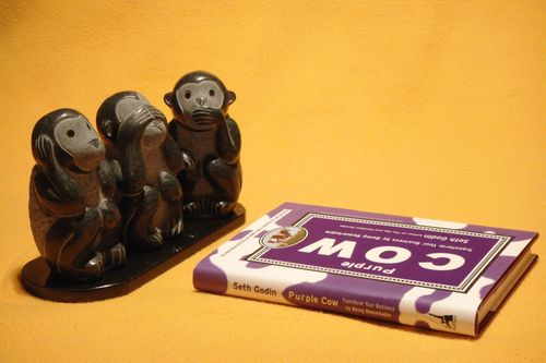 Three Monkeys and a purple cow DSC03010