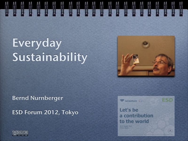 Everyday Sustainability – ESD Forum 2012.001